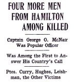 Press clipping– Article appearing in the Hamilton Spectator on May 5th, 1916.