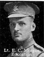 Photo of Edward Morgan– From: The Varsity Magazine Supplement published by The Students Administrative Council, University of Toronto 1916.   Submitted for the Soldiers' Tower Committee, University of Toronto, by Operation Picture Me.