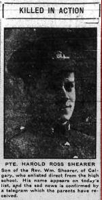 Newspaper clipping– Calgary Herald June 16, 1916