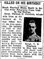 Newspaper Clipping– Toronto Daily Star, 4 Dec 1917