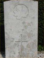 Grave marker– W. Allardyce's Gravesite at Nivelles (Nijvel) Communal Cemetery, Faubourg de Charleroi, 67