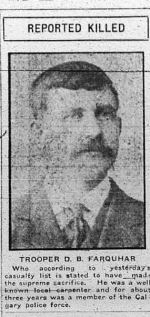 Newspaper Clipping– Clipping from Calgary Daily Herald May 10, 1916.
