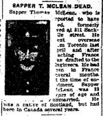 Newspaper Clipping– Clipping from the Toronto Star for 3 March 1917, page 7.