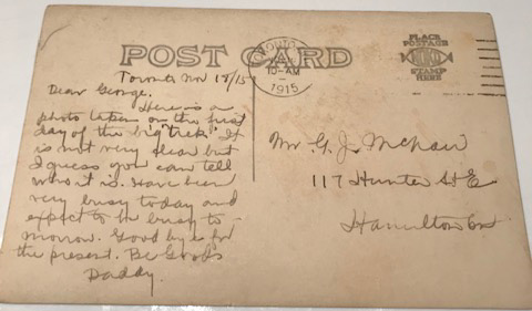 Post Card (Reverse)