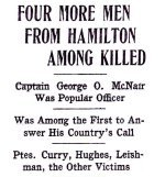 Press clipping– Article appearing in the Hamilton Spectator on May 5, 1916.