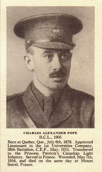 Photo of Charles Alexander Pope