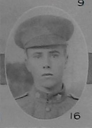 Photo of Clarence Bartlett– Signaller E C Bartlett as portrayed in the December 1918 edition of The Christmas Echo published in London Ontario -- And in the Morning