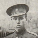 Photo of Clarence Bartlett– Enlisted with the 33rd Battalion. Transferrered to the 25th Battalion. Killed at Ypres.