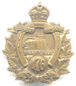 Badge– Cap badge of the 176th Bn. Pte Brown originally joined the176th before being sent to the 15th Bn (48th Highlanders of Canada as a reinforcement.