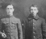 Group Photo– Photo postcard taken by C H Whitney (possibly photographer in Sydney, NS, Canada (Circa 1916)  Enlisted date for M Penney was March 16, 1916