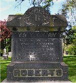 Memorial– Capt. Maurice Cameron Roberts is remembered on the Roberts family memorial at Hamilton Cemetery, 777 York Blvd., Hamilton, Ontario.