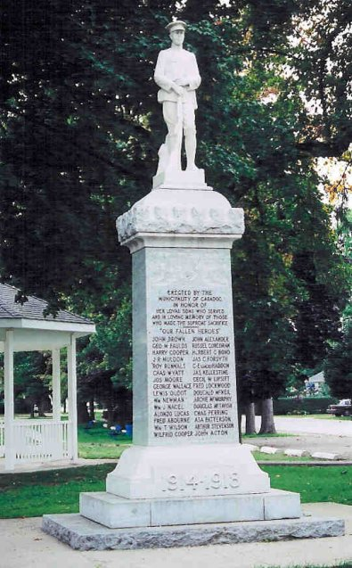 """Memorial– Memorial at Mount Brydges Ontario Canada. Henry was known as """"Harry Cooper"""""""