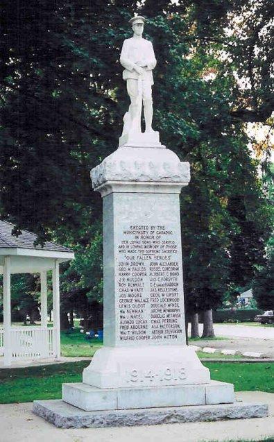 Mémorial – Mémorial de Mount Brydges, Ontario Canada.