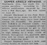 Newspaper clipping– THE CALGARY DAILY HERALD 7 JULY 1916