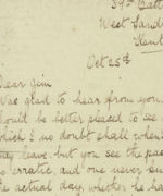 Letter– Letter from C.E. Hoyle to nephew in late 1915.  About 8 months before being killed in action.