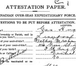 Attestation Papers– George Hughes (Regimental Number 20629)