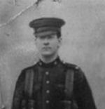 Photo of Sydney Christopher James– This is a photo taken of Syd at Valcartier along with a copy of the letter sent by the chaplain to my great grandmother.