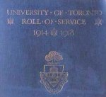 "Honour Roll– From the ""University of Toronto / Roll of Service 1914-1918"", published in 1921."