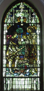 Memorial– A stained glass window was erected at Trinity United Church, 4287 William Street, Beamsville, ON. This stained glass window depicting an Honour Roll, is dedicated to those veterans listed, lost during the First and Second World Wars. This memorial was unveiled in the 1940s.