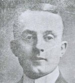"""Photo of Frederick S. Albright– Extract from an obituary for Private Albright which was written by Dr. W.H. Alexander of the University of Alberta and was printed in the November 25, 1917 issue of The Gateway. The war has heightened our sympathies, we are told, but it does seem sometimes as if it had dulled our sensibilities.  Perhaps it is inevitable: so many of those we loved have gone the dark road that there are no tears left for the young and the brave who are still laying down their lives """"over there.""""  Yet every once in a while there comes a loss that strikes us even in our coma, and such to me was the death in action of F. S. Albright of Calgary, the other day.   Probably not many of our students knew him; he was not a graduate of ours, and his chief tie to us was his lectureship in Law.  And yet he was drawn to us by warm affection, by the sympathy he entertained for the young institution for whose future he cherished the highest hopes.   I saw him last in February [1917] just before he left with a draft company of his battalion, bright and cheery, and just as convinced as ever that he had chosen the better part which could not ever be taken from him.  I am honored in being permitted to lay this tribute upon the altar of his memory; I desire also on behalf of this University into the making of which his life has gone, to offer to his young wife our respectful sympathy."""