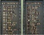 Inscription– World War One names, Beamsville Ontario War Memorial.