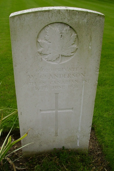 Grave marker– Grave marker ... Railway Dugouts Burial Ground ... photo courtesy of Marg Liessens