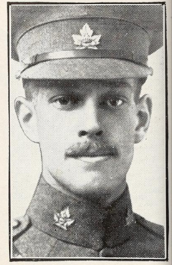 Photo of Edwin Berkinshaw– Photo from the National Memorial Album of Canadian Heroes c.1919. Submitted for the project, Operation: Picture Me.