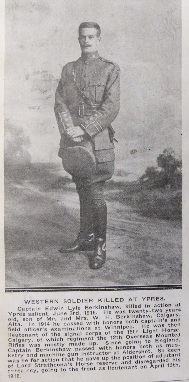 Photo of Edwin Berkinshaw– Submitted for the project Operation Picture Me. From the Annie Boyes collection courtesy of the Simcoe County Archives. http://www.simcoe.ca/dpt/arc