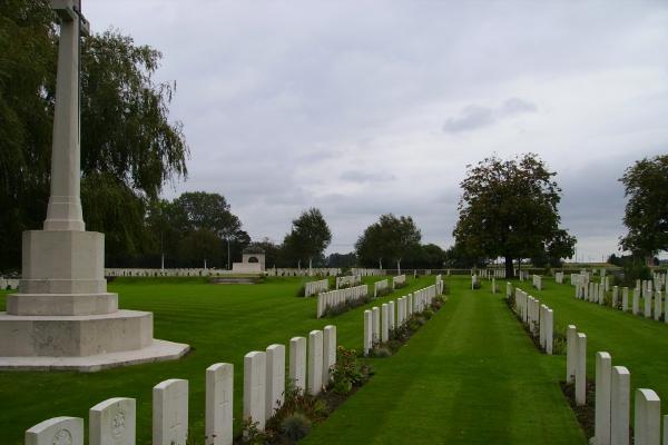 Cemetery– Railway Dugouts Burial Ground … photo courtesy of Marg Liessens