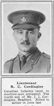 Photo of ROBERT CECIL CORDINGLEY– Submitted for the project, Operation Picture Me