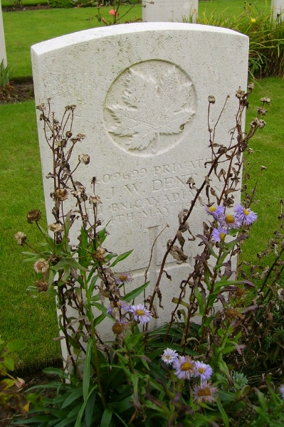 Grave Marker– Railway Dugouts Burial Ground … photo courtesy of Marg Liessens