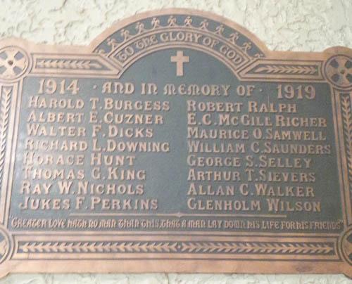 Memorial– St. Matthew's Anglican Church 217 First Avenue Ottawa, Ontario