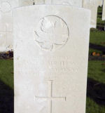 Grave Marker– Photo by BGen G Young 15th Battalion Memorial Project Team Nov 2009
