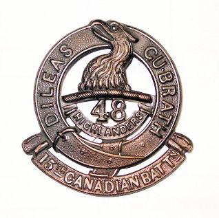 15th Bn Cap Badge