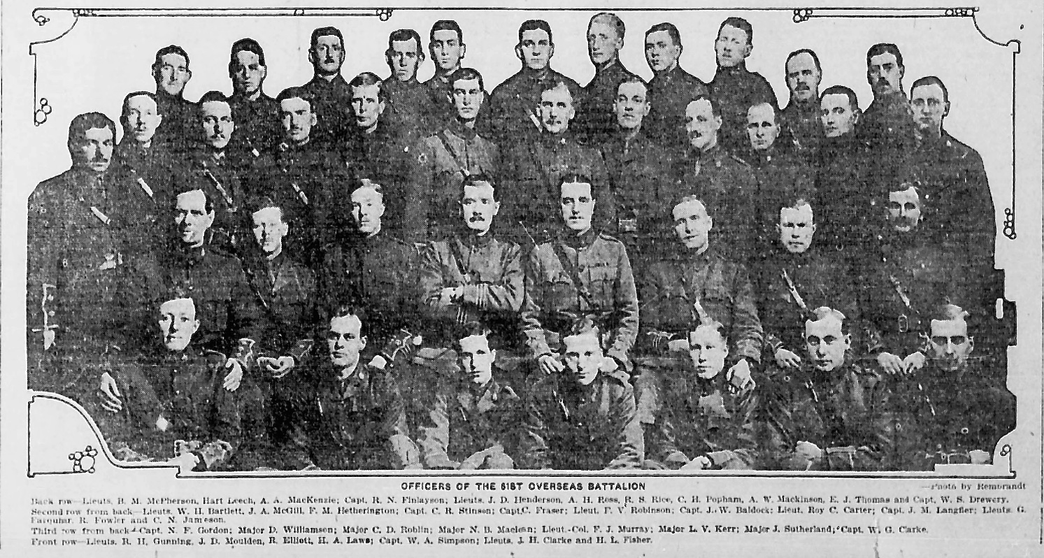 Group Photo– In memory of the men and women memorialized on the pages of the Winnipeg Evening Tribune during World War One. Submitted for the project, Operation: Picture Me