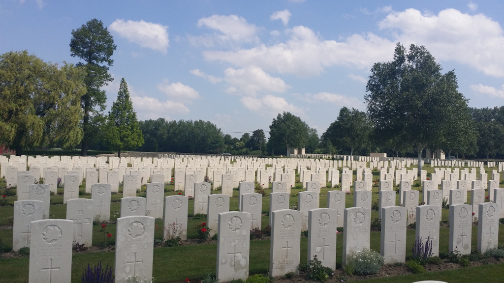 Cemetery– Railway Dugouts Cemetry: Graves of fallen servicemen from many nations. Just a partial view.