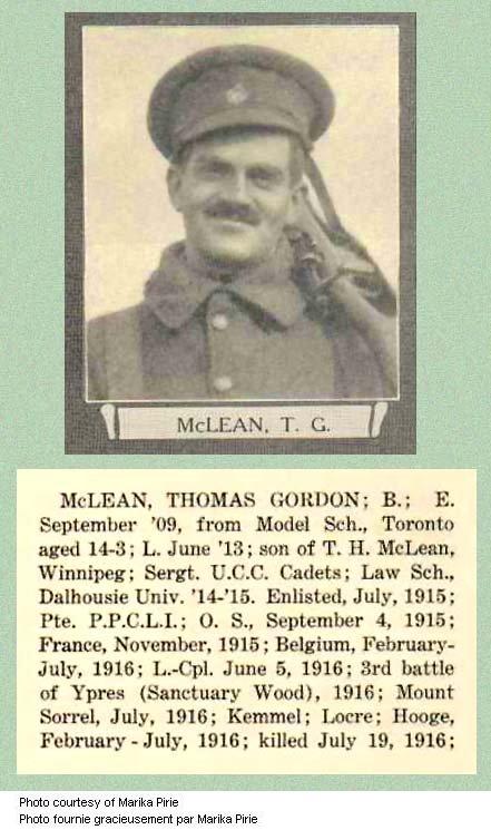 Photo of Thomas Gordon McLean