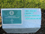 Temporary marker– The temporary grave marker at the Railway Dugouts Burial Ground Cemetery located approximately 3 kilometres to the south of Ieper, Belgium. May he rest in peace. (K. Falconer & J. Stephens 2010)