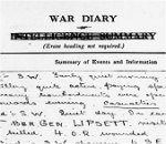 War Diary– 5th Canadian Battalion War Diary for April 1916 recording the death of Captain J.F.P. Nash.