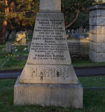 Memorial– The family marker for the family of George Walter Nation.  It is located in Ross Bay Cemetery, Victoria, British Columbia.  The photograph was taken in the spring of 2009.  The following is a transcription from the 7th Battalion's war diary for the day Lt. Nation lost his life:    Quiet all day.  10 p.m.  Enemy exploded a large mine in BLUFF SECTOR.       Our machine gun fire & artillery barrage effective in preventing enemy     leaving his trenches.  No 1 Coy immediately occupy and consolidate crater.  Between 11 p.m. & midnight Bn is relieved by 4th Bn & move to DOMINION LINES.  Photo courtesy of Bob Penhale.