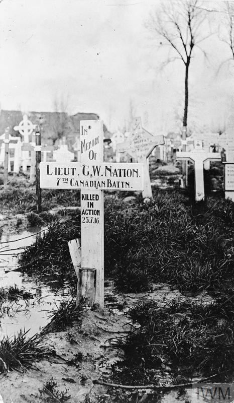 """Grave Marker– From the """"BAWTREE IVAN L COLLECTION"""" at the Imperial War Museum. An unidentified photograph with """"No Description Available"""" but clearly the original grave marker of the deceased (http://www.iwm.org.uk/collections/item/object/205343816)."""