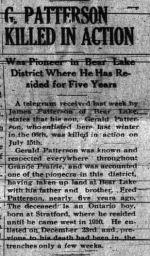Newspaper clipping– GRANDE PRAIRIE HERALD TUESDAY AUGUST 1 1916