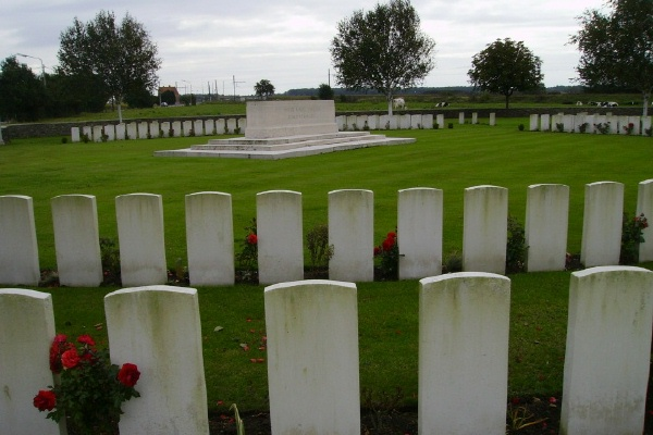 Cemetery– Stone of Remembrance ... Railway Dugouts Burial Ground ... photo courtesy of Marg Liessens