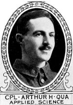 Photo of Arthur Qua– From: The Varsity Magazine Supplement Fourth Edition 1918 published by The Students Administrative Council, University of Toronto.   Submitted for the Soldiers' Tower Committee, University of Toronto, by Operation Picture Me.