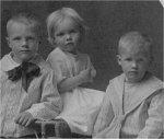 Family Photo– Children of August Safken (L to R) Son George, daughter Irene, son Raymond