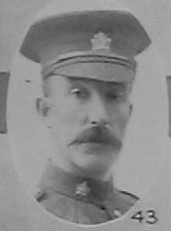 Photo of William Thomas Warwick– Shown as Sgt Major W T Warwick in the December 1918 edition of the Christmas Echo published in London Ontario -- And in the Morning