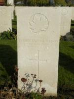 Grave marker– Gravemarker. Photo BGen G. Young 15th Battalion Memorial Project Team