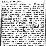 Newspaper Clipping– From the Perth Courier for 4 August 1916, page 1.