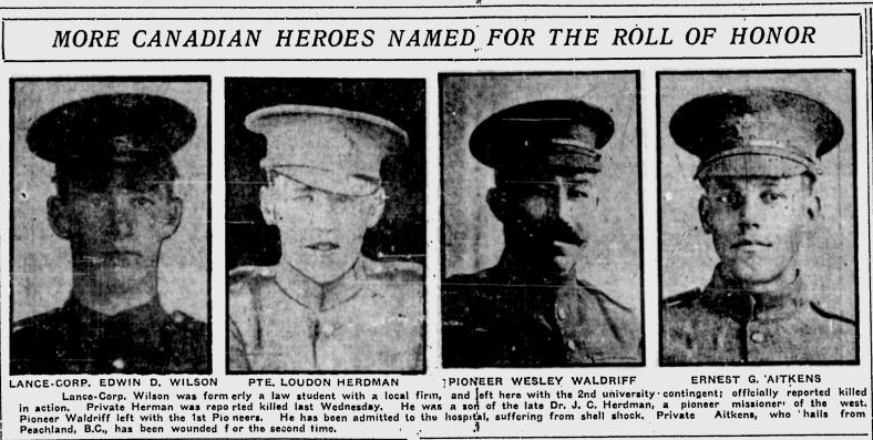 Newspaper Clipping– From the Calgary Herald. Submitted for the project, Operation: Picture Me