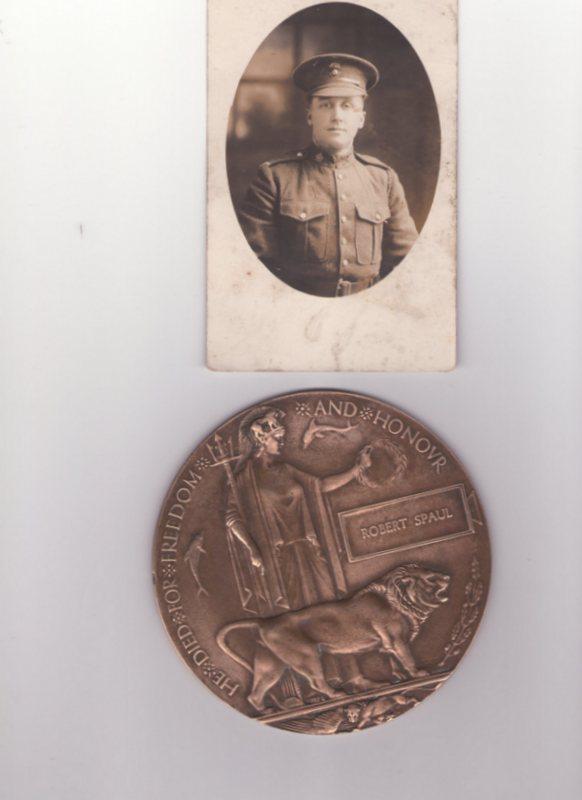 Photo of Robert Spaul– Robert Spaul Reg 147928 Canadian Infantry 78th battalion (Manitoba Regiment) Photo and ?  Medal